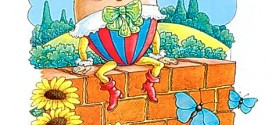 Image scanned from Book -  Kingfisher book of Nursery Rhymes Page shows Humpty Dumpty